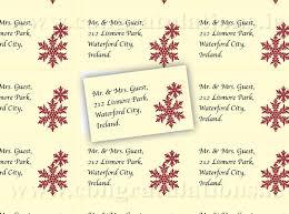 Snowflake Address Labels Burgundy On Ivory Background