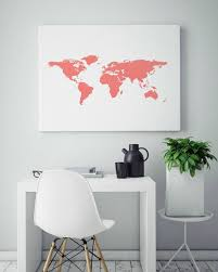 inspirational print map the world abstract wall art rose gold wall decor