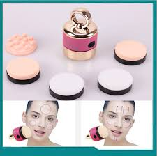 5 in 1 electric auto vibration foundation powder face beauty makeup puff applicator india