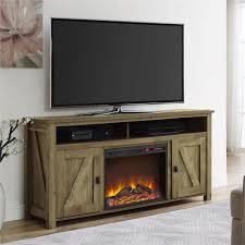 ameriwood farmington heritage light pine fire place entertainment center