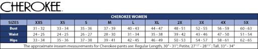 Cherokee Scrubs Size Chart Cherokee Infinity 1123a Antimicrobial Scrub Pant Infinity