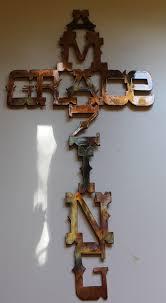 amazing grace cross metal wall art copper bronze plated on amazing grace metal cross wall art with amazing grace cross metal decor