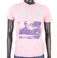 Hollister Shirt Size Chart Details About T Hollister Mens T Shirt Cotton Print Tee Pink M