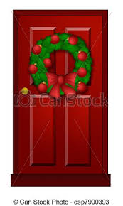 christmas front door clipart.  Front For Christmas Front Door Clipart R
