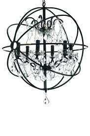 wrought iron sphere chandelier iron sphere chandelier great black sphere chandelier chandelier orb clear crystal chandelier