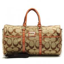 Coach Bleecker Monogram In Signature Large Khaki Luggage Bags AFL
