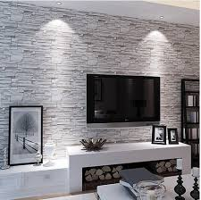 Small Picture Stone Brick Wall Paper Living Room Walls Wallpaper Rolls for Kids