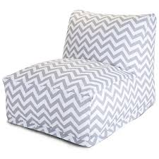 majestic home goods chevron bean bag chair lounger gray co uk kitchen home