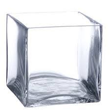 cube glass vase small 4 5 h x 4 5 x 4 5 d