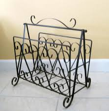 Wrought Iron Magazine Holder Mid Century Wrought Iron Black Magazine Holder LP Holder Vinyl 2