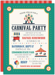 Carnival Birthday Invitations Carnival Birthday Invitations Purpletrail