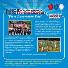 Memorial Day Free Html E Mail Templates