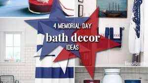 Bathroom: Impressing Memorial Day Patriotic Bathroom Decor Design Ideas  Holiday Of Of Patriotic Bathroom Decor