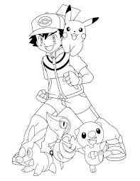 Pokemon Kleurplaten Ash