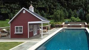 small pool shed. View In Gallery Country Home With A Small Pool Shed L