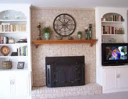 fireplace mantel shelves an easy makeover