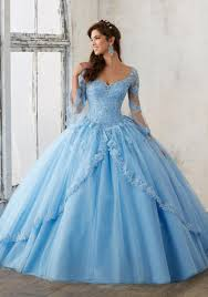 Light Blue Quince Dress Light Blue Quinceanera Dresses Ball Gown V Neck Long Sleeve Lace Appliques Beaded Sexy Open Back Lace Up Prom Dress Pink Bridal Gowns From Better4u