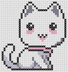 Cat Cross Stitch Patterns Delectable Cross Stitch Easy Pattern Cat Anime At Cross Stitch 48 Free