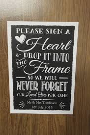 wedding drop box guest book instructions personalised vintage chalk style wedding 2017 diy wedding