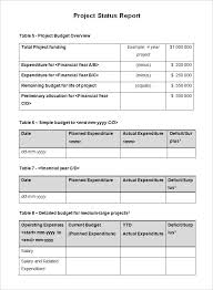 Status Report Format Project Status Report Templates Writing Word Excel Format