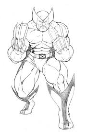 Small Picture Free Printable Wolverine Coloring Pages For Kids