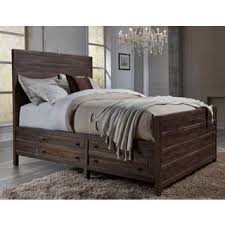 wood bed frame king. Townsend Solid Wood Storage Bed In Java Frame King O