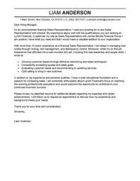 ... Resume Cover Letters Samples 21 Sales Representative Cover Letter  Example ...