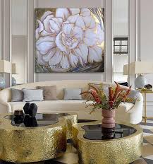 large white flower wall art acrylic
