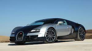 206 mph / 333 kmh 1/2 mile: Bugatti Veyron Super Sport Blue Silver Hd Wallpaper 7