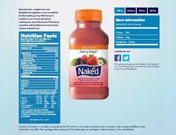 juice berry blast nutrition facts panel