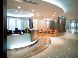 contemporary office reception. Luxury Office Reception Area Design Ideas With Amazing Ceiling Decoration Using Modern Recessed Lighting And Exclusive Circular Desk Stunning Contemporary 1