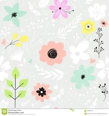 download comp on flowers wall art decor vector with vector seamless pattern with pastel flowers stock vector