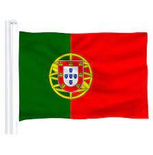 DFLIVE ประเทศโปรตุเกสธง 3x5 ฟุตพิมพ์โพลีเอสเตอร์ 90x150 ซม.ภาษาโปรตุเกสคำ  PT แห่งชาติแบนเนอร์|Flags, Banners & Accessories