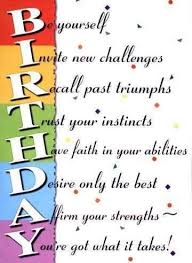Happy Birthday Inspirational Quotes