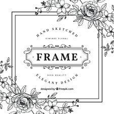 white vintage photo frame black and white vintage flower frame premium vector white vintage picture frames