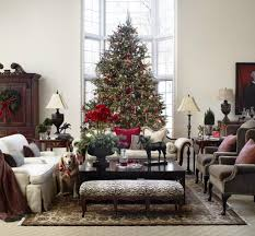Living Room Christmas Decor Christmas Living Room Decorating Ideas Double White Candles Tall