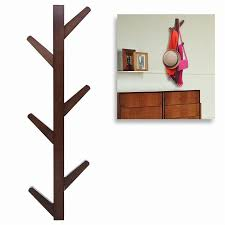 product description yazi vintage brown bamboo 6 branches tree style wall mounted hanging coat