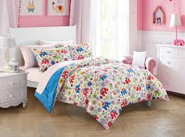 pink kids bedding set woodland safari for girls bed twin size for girl gift
