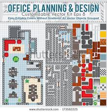 office planning and design. Office Space Planning And Design. Vector Kit Contains: Construction Elements, Modern Furniture, Design