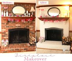 red brick fireplace makeover before and after ideas to update