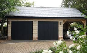 black garage doorsGRP one piece garage door gallery  ideas  inspiration  Anglian Home