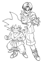 dragon ball z coloring book pages 12 picture