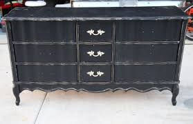 black painted furniture ideas. French Style DIY Wood Dresser Makeover Made From Reclaimed Painted With Black Color And 3 Drawer Storage Ideas Furniture A