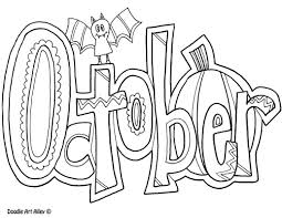 Small Picture Months of the Year Coloring Pages Classroom Doodles