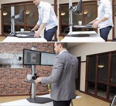 A standing desk is a bit of a commitment, and purchasing one of course  requires you jettison your existing desk. But a company called Innovative  Office ...