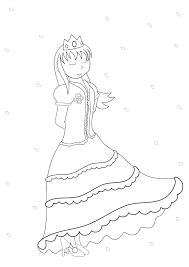 お姫様2 塗り絵 無料 人カテゴリー ぬりえワールド