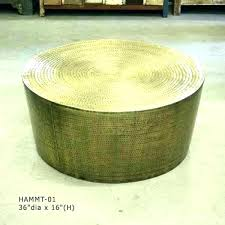 hammered drum coffee table metal brass african uk