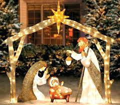 outdoor nativity sets scene decorations decorating small spaces on a budget costco outdoor nativity sets