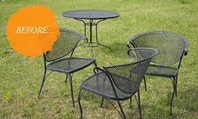antique iron patio furniture painting wrought