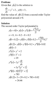taylor polynomial approximation of solving ordinary diffeial equations